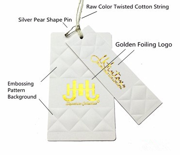Luxury Paper Hang Tag of gold foil logo