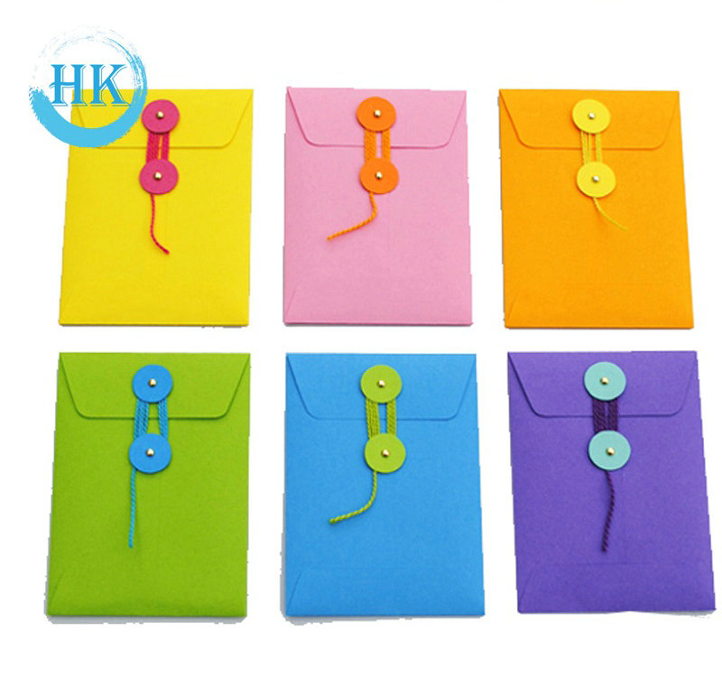 Color Envelopes with String